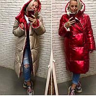 Женская модная двусторонняя куртка-пальто Дуэт Батал, фото 1