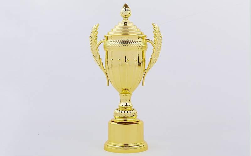 Кубок спортивный с ручками и крышкой AMBITION h-43,5см C-899-2A (h-43,5см,b-20см,d чаши-12см,золото)