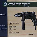 Дрель электрическая Craft-tec PXID243 900 Вт. Крафт-Тек, фото 2