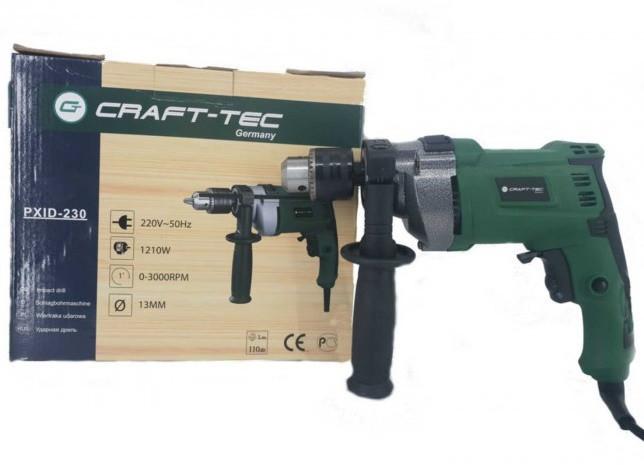 Дриль електрична Craft-tec PXID-230 1210 Вт. Крафт-Тек
