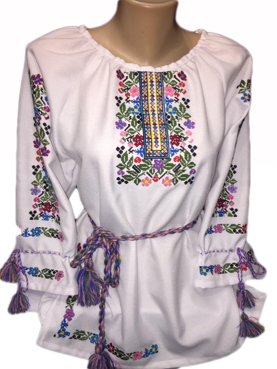 """Жіноча вишита сорочка (блузка) """"Розет"""" (Женская вышитая рубашка (блузка) """"Розет"""") BI-0014"""