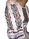 """Жіноча вишита сорочка (блузка) """"Розет"""" (Женская вышитая рубашка (блузка) """"Розет"""") BI-0014, фото 2"""