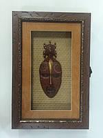 """Ключница  настенная, деревянная -"""" Маска под стеклом """" 60012 C, фото 1"""