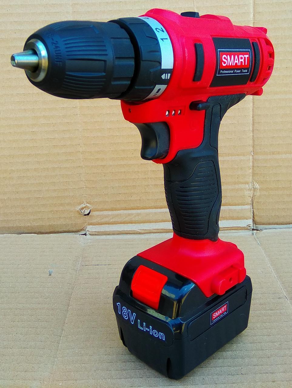 Шуруповерт аккумуляторный SMART SCD-0018Li 2 Ah 2 Аккумулятора