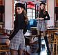 """Тёплые стильные женские шорты до больших размеров 41197 """"Кашемир Клетка"""" в расцветках, фото 3"""