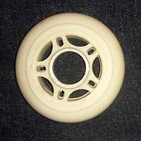 Колесо для роликов UniBC PU 64мм82А белое полиуретановое