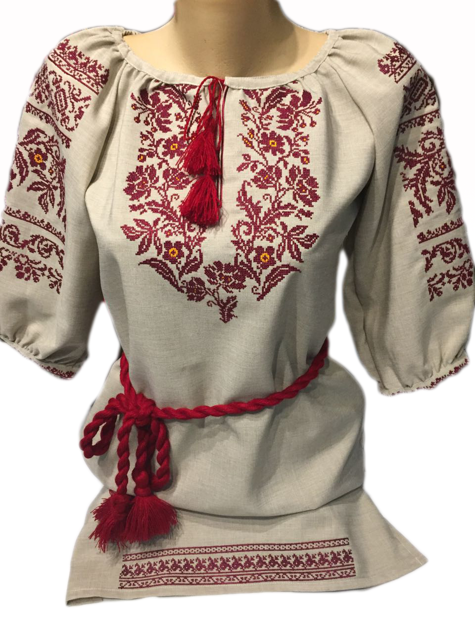"""Женская вышитая рубашка """"Рейби"""" BI-0015"""
