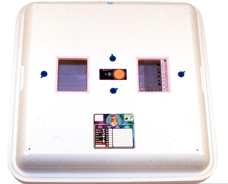 Инкубатор цифровой Рябушка 150 яиц Smart plusлитой с ТЭНом и вентилятором