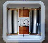 Інкубатор цифровий Рябушка на 100 яєць автоматичний переворот, з литим корпусом, Теном і вентилятором, фото 5