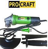 Болгарка ProCraft PW 125 1350. ПроКрафт. Угловая шлифмашина (УШМ), фото 4
