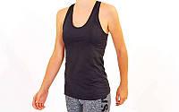 Майка для фитнеса и йоги черная CO-39020