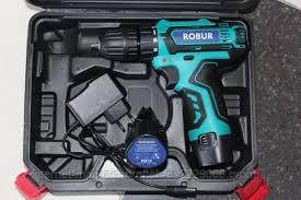 Шуруповерт - Дрель Аккумуляторный ROBUR 12 Вольт Германия (1 акумулятор, кейс)