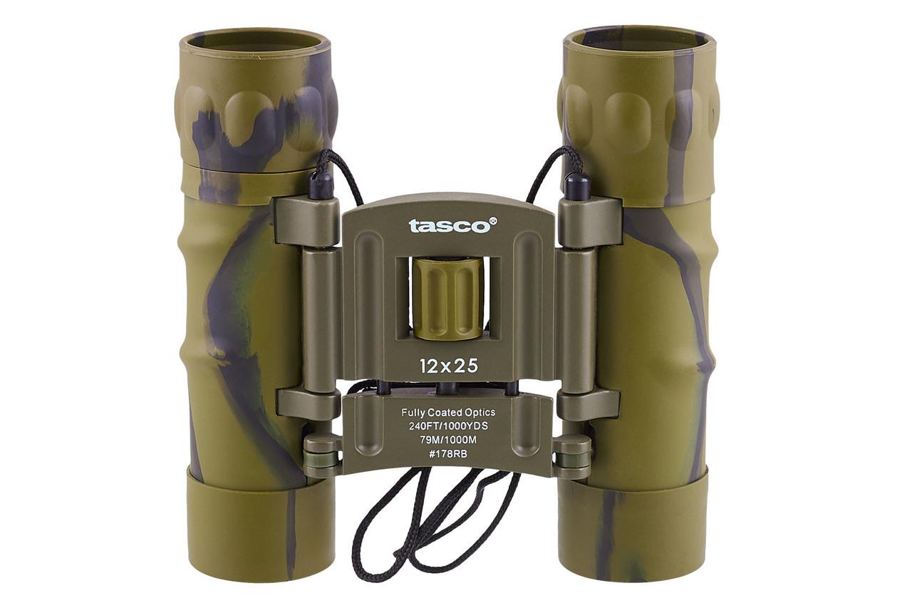 Компактный легкий бинокль 12x25 Тasco (зеленый)