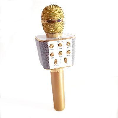 Беспроводной Bluetooth Микрофон Караоке WS1688  золото