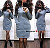 Женское стильное теплое платье  РАЗНЫЕ ЦВЕТА Код. Е1113-0100 - Фото