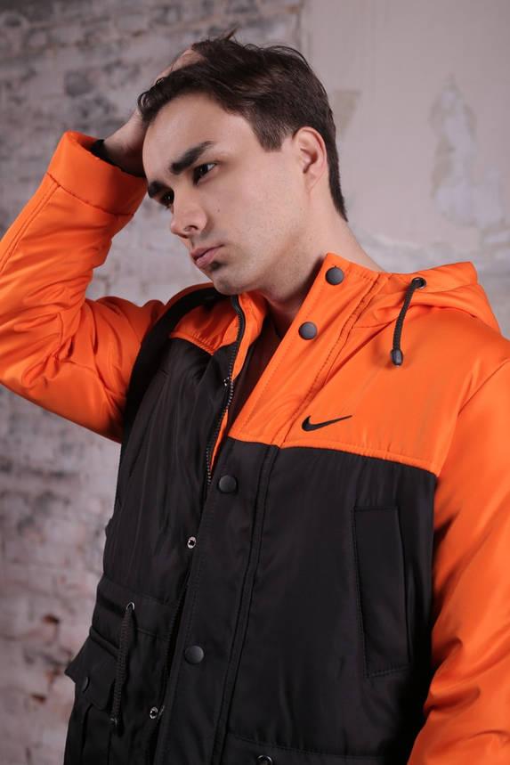 Комплект: Весенняя мужская парка Найк + штаны. Барсетка Nike и перчатки в Подарок., фото 2