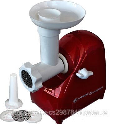 Мясорубка электрическая Белвар Помощница КЕМ-П2У мод. 302-07 (красная)