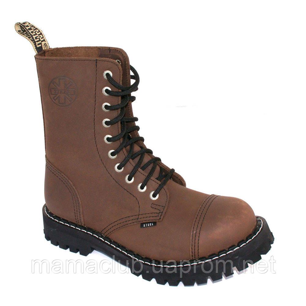 91e43f95b Зимние берцы Steel с шерстью коричневые 10 дырок 105/106/O/CR.BR ...