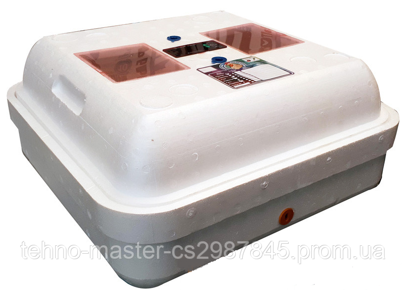 Инкубатор цифровой Рябушка на 70 яиц с ручным переворотом, литым корпусом, ТЭНом и вентилятором