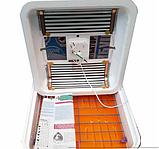 Инкубатор цифровой Рябушка на 70 яиц с ручным переворотом, литым корпусом, ТЭНом и вентилятором, фото 4