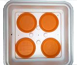 Инкубатор цифровой Рябушка на 70 яиц с ручным переворотом, литым корпусом, ТЭНом и вентилятором, фото 6
