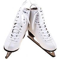Коньки фигурные белые Teku (PU) ТК-082W белые (реплика)