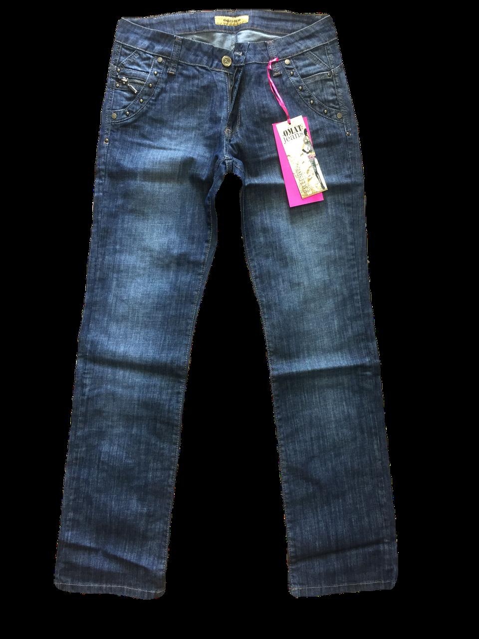 Джинсы женские большого размера ОМАТjeans 9559-805 синие