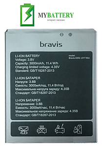 Оригинальный аккумулятор АКБ (Батарея) для Bravis A552 Joy Max 3000 mAh 3.8V