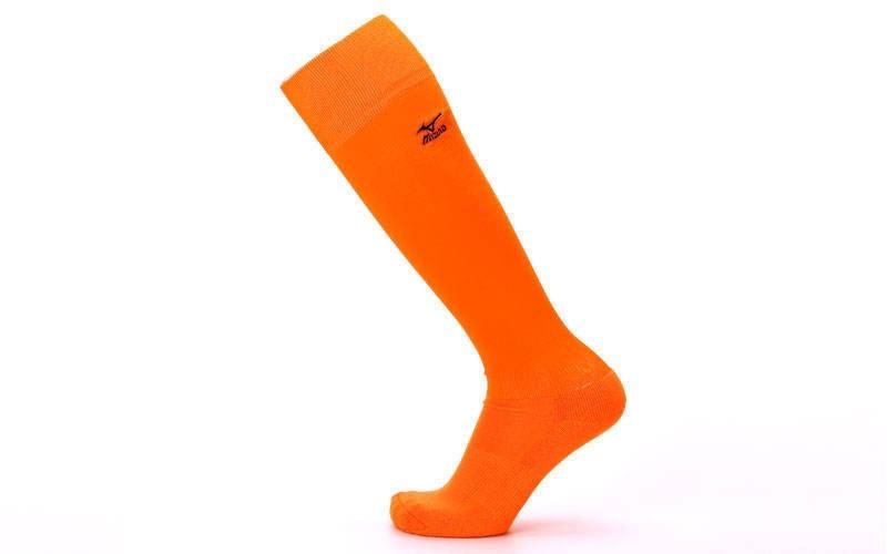 Гетры футбольные взрослые оранжевые MIZUNO 95627-OR (реплика)