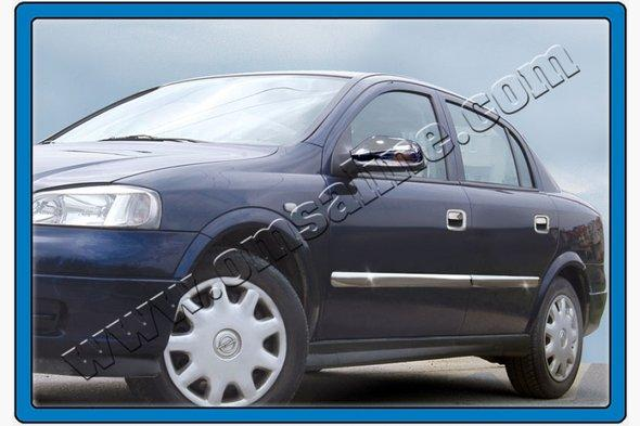 Молдинг дверной (4 шт, нерж) Opel Astra G classic 1998-2012 гг.