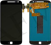 Дисплей (LCD) Motorola XT1641 Moto G4 Plus/ XT1642/ XT1644 + сенсор чёрный