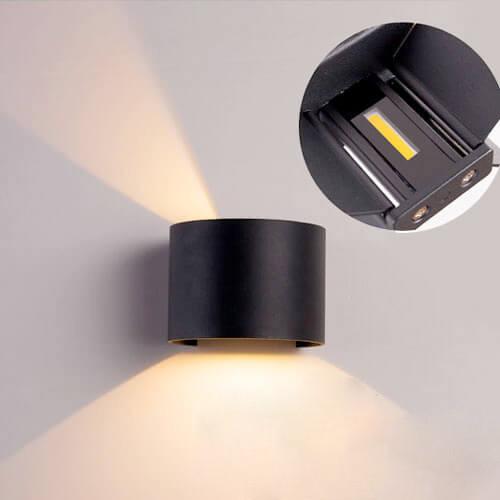 Настенный светодиодный светильник Feron DH013 для подсветки фасадов черный
