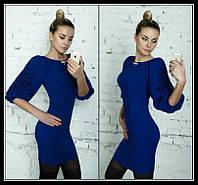 Платье стильное фонарик-перфорация (23) $