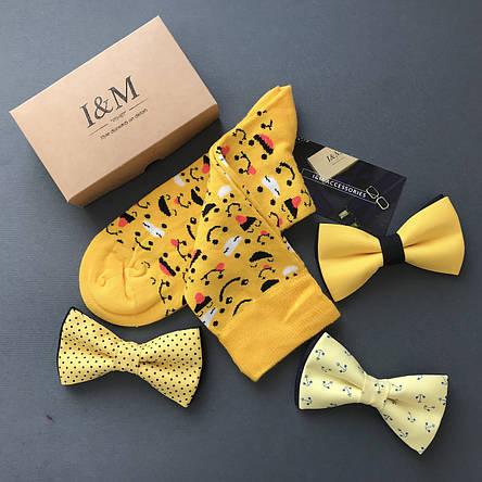 Шкарпетки I&M Craft жовті зі смайликами (070141), фото 2
