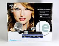 Микрофон Беспроводной  DM EW 100  /  база + 2 радиомикрофона, фото 1