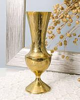 Декоративная индийская ваза, вазочка, латунь, Индия, 70-е года, фото 1