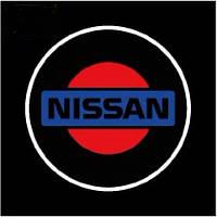Дверной логотип LED LOGO 070 NISSAN, светодиодный логотип, Лазерная проекция
