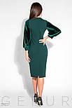 Изумрудное платье миди с бархатными рукавами, фото 3