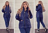 Женская модная демисезонная  куртка на синтепоне 150,размеры 48-58