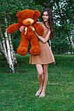Плюшевый мишка Тедди коричневый 80см, фото 3