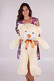 Плюшевий ведмедик Тедді кремовий 80 см, фото 2