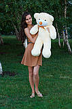 Плюшевий ведмедик Тедді кремовий 80 см, фото 3
