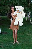 Плюшевый мишка Тедди кремовый 80 см, фото 3