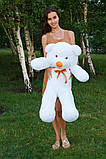 Плюшевий ведмедик Тедді білий 100 см, фото 3