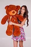 Плюшевий ведмедик Тедді коричневий 100 см, фото 2