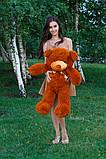 Плюшевий ведмедик Тедді коричневий 100 см, фото 3