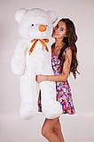 Плюшевий ведмедик Тедді білий 120 см, фото 3