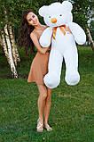 Плюшевий ведмедик Тедді білий 120 см, фото 4