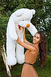 Плюшевий ведмедик Тедді білий 120 см, фото 5