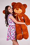 Плюшевий ведмедик Тедді коричневий 120 см, фото 2